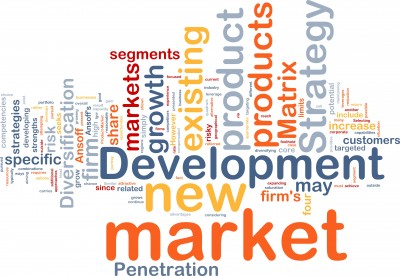 new market development word cloud