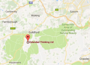Extended Thinking Marketing Consultancy Surrey map