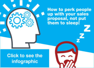 Infographic: How to perk people up with your sales proposal, not put them to sleep!